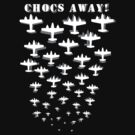 Bomber Fleet T-Shirt (Inverted) by ch3rrybl0ss0m