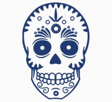 Sugar Skull 0001 blue by Tony  Bazidlo