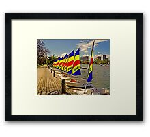 Ready and Waiting for the Little Tackers Framed Print