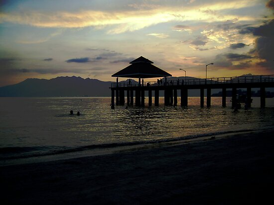 Sunset at Pier B, Subic Bay, Philippines by Carlo Cesar Rodillas