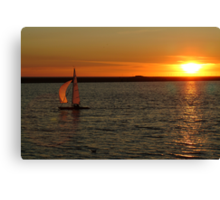 SUNSET WEST KIRBY MARINE LAKE (5) Canvas Print
