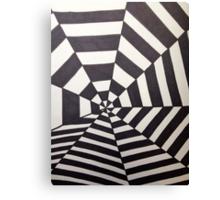 Crooked Optical Illusion Canvas Print