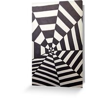 Crooked Optical Illusion Greeting Card