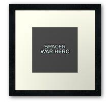 Mass Effect Origins - Spacer War Hero Framed Print