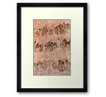Bodhidharma and his followers wall paintings at Shaolin Temple art photo print Framed Print