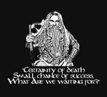 Gimli Quote, Certainty of Death quote, LOTR, Tolkien by NerdGirlTees