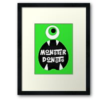 Monster Donut Framed Print