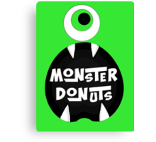 Monster Donut Canvas Print
