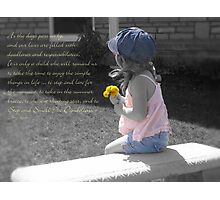 Stop And Smell The Dandelions Photographic Print