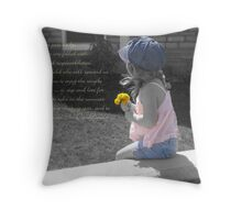 Stop And Smell The Dandelions Throw Pillow