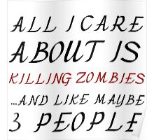 ALL I CARE ABOUT IS KILLING ZOMBIES  Poster