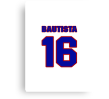 National baseball player Denny Bautista jersey 16 Canvas Print