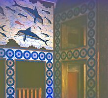 Frescoes, Minoan Palace, Knossos, Greece by Priscilla Turner
