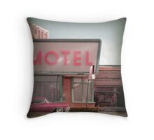 Cadillac Motel Throw Pillow