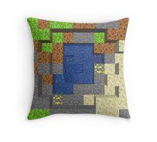 Pixel Mining Play Area 5 Throw Pillow