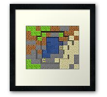 Pixel Mining Play Area 5 Framed Print