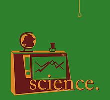 This is the one that says 'science', and has pictures of science, on a green background. by Justin McArthur
