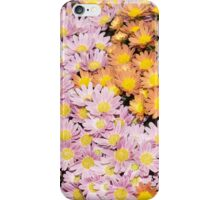 Floral Overflow - Happy Pink and Orange Autumn Mums iPhone Case/Skin