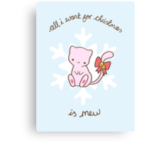 Mew Christmas Canvas Print