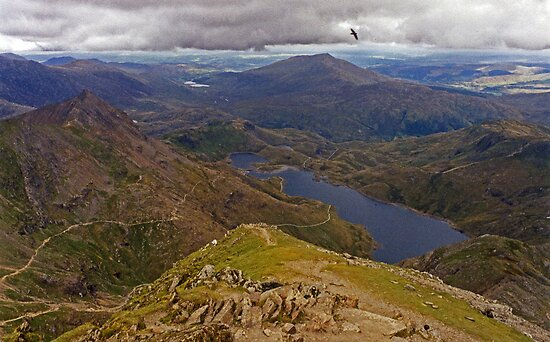 Top of the World - Snowdon - Wales  by Carl Gaynor