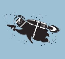 Outer space sloth rocket ray gun Kids Clothes