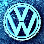 Frosty VW emblem by ©The Creative  Minds