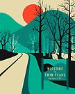Twin Peaks Travel Poster by JazzberryBlue