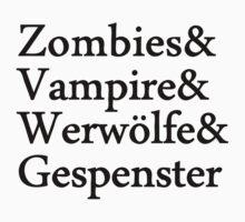 Zombies Vampire Werwölfe Gespenster by Fuchs-und-Spatz