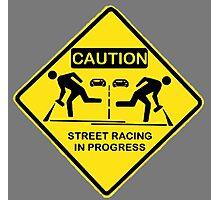 Street racing in progress Photographic Print