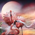 Flamingo Kiss - SQ by Carol  Cavalaris