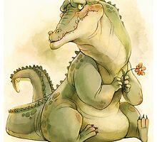 Bashful Croc by Lintufriikki