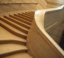 Stairs in the National Gallery of Art by Cora Wandel