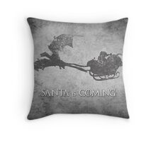 Game of Thrones Christmas Card: Santa is Coming (with Dragons) Throw Pillow