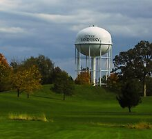 Sandusky Ohio - Water Tower by SRowe Art