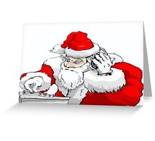 DJ Santa Claus Mixing The Christmas Party Track Greeting Card