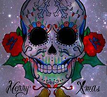 Christmas Sugar Skull by RayneArt
