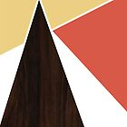 Abstract Wooden Triangles by The RealDealBeal