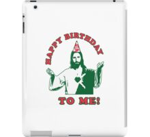 Happy Birthday To Me! | Jesus Christmas Funny Quote Ugly Sweater iPad Case/Skin