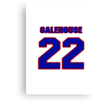 National baseball player Denny Galehouse jersey 22 Canvas Print