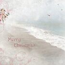 "Angels in Pink ""Merry Christmas"" ~ Greeting Card by Susan Werby"