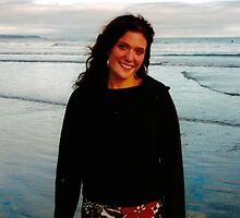 Young Woman on a Beach (Long Beach, Vancouver Island, British Columbia, Canada, July 2004) by Edward A. Lentz
