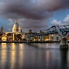 St Paul's Cathedral from across the Thames by Ruski