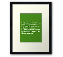 Are you up for a Spellingg Bee? Framed Print
