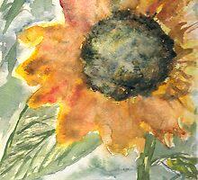 Rustic Sunflower by derekmccrea