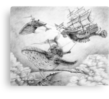 Wind Whales Canvas Print