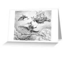 Wind Whales Greeting Card