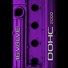 Mitsubishi Valve Cover 4G63 Purple (iPhone) by Hector Flores