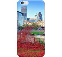 The Wave Tower of London Poppies iPhone Case/Skin