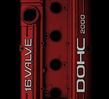 Mitsubishi Valve Cover 4G63 Red (iPhone) by Hector Flores