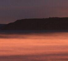 Scarborough Coastline At Night by EarlCVans